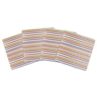 "Nika Martinez ""Summer Stripes"" Abstract Indoor/Outdoor Place Mat (Set of 4)"