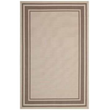 Rim Solid Border Borderline 8x10 Indoor and Outdoor Area Rug