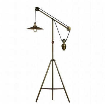 RH loft vintage industrial living dinning room adjustable tripod floor lamp light