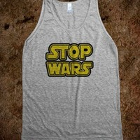 Stop Wars Hipster Tank Top