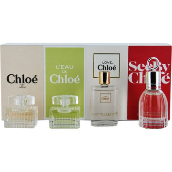 CHLOE VARIETY by Chloe 4 PIECE WOMENS VARIETY WITH CHLOE NEW AND L'EAU DE CHLOE AND CHLOE LOVE EAU FLORALE AND SEE BY CHLOE AND ALL ARE .17 OZ MINIS