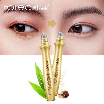 ROREC Eye Serum Instantly Ageless Anti-Wrinkle Snail Essence for Eyes Anti Puffiness Against Bags Hyaluronic Acid Solution Care