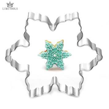 LIMITOOLS New Stainless Steel Star Snowflake Biscuit Cutter Cookie Fondant Cake Mould Icing DIY Baking Tool