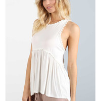 Babydoll & Lace Trimmed Top