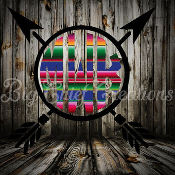 Arrows Serape Monogram Decal