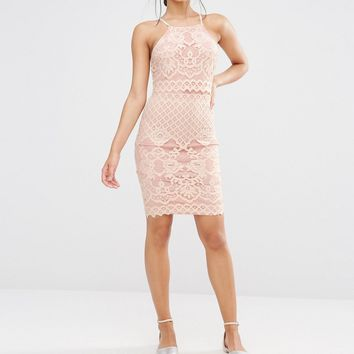 Missguided Lace Strappy Double Layer Dress at asos.com
