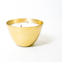 Patchouli Amber Hammered Bowl Scented Candle