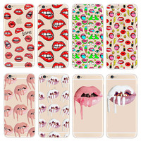 Phone Cases Kylie Jenner Lipstick Lip Cosmetics Transparent Hard PC Case Cover For Apple iPhone 5 5s SE 6 6s 7 Plus Coque Capa
