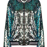 Mermaid Sequin Bomber Jacket