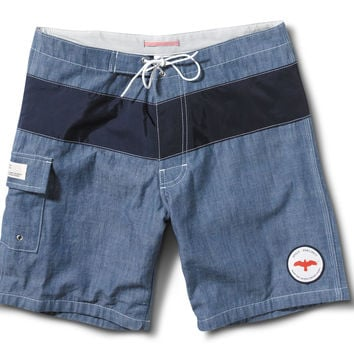 Apolis Chambray Swim Trunk Blue