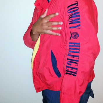 90s Tommy Hilfiger Windbreaker Mens Medium
