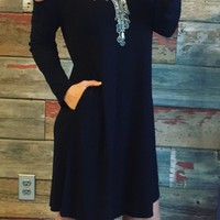 Of the moment Black Cold Shoulder Dress