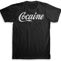 Cocaine T Shirt - American Apparel Tri-Blend Vintage Fashion - Graphic Tees for Men & Women