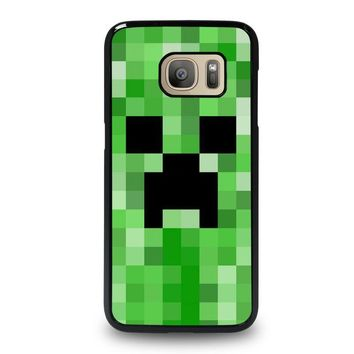 creeper minecraft 2 samsung galaxy s7 case cover  number 1