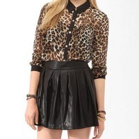 Sheer Cheetah Print Shirt | FOREVER 21 - 2017306384