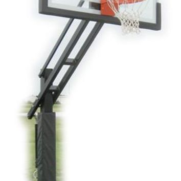 Ironclad Sports Triple Threat TPT553-MD In Ground Outdoor Adjustable Basketball Hoop 54 inch Tempered Glass