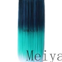 Fashion Line 2013 New Style 20inch Straight Clip Hair Piece Extension 105g