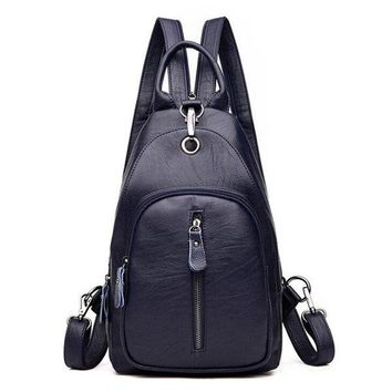University College Backpack New Arrival Women PU Leather s  Students Simple s Girls Wind Large Capacity Preppy s Y363AT_63_4