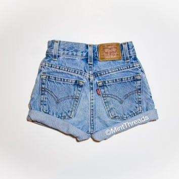 "ALL SIZES Vintage ""HERCULES"" High Waisted LEVI Denim Short"