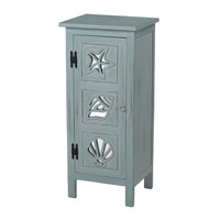 Normandy Shore Mirrored Seashell Cabinet by Sterling