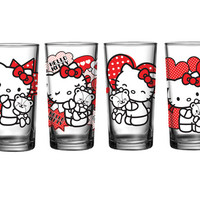 Hello Kitty 40th Anniversary 16 oz Glasses