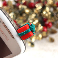 Christmas Gift Dust Plug Polymer Clay Phone Dust Plug, Christmas Decoration
