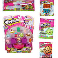 Shopkins Stocking Stuffer Bundle Toothbrush Travel Kit, Large Eraser, Lip Balm, Candy, 12 Pack Shopkins