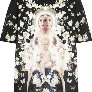 Givenchy - Flower Madonna T-shirt in printed cotton-jersey