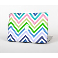 The Fun Colored Vector Sharp Chevron Pattern Skin Set for the Apple MacBook Air 13""