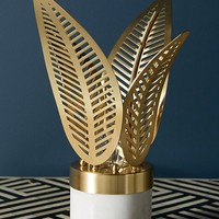 Palm Frond Table Lamp