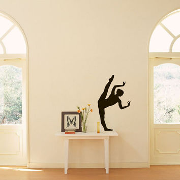 Ballet Dance Studio Ballerina Sports Shapely Dancing Girl Housewares Wall Vinyl Decal Art Design Murals Interior Decor Sticker SV1949
