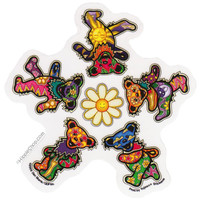 Grateful Dead - Daisy Bears Window Sticker on Sale for $3.99 at HippieShop.com
