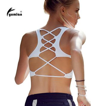 Cross String Back Sports Bra High Quality Shockproof Sport Bra Tops Sexy Breathable Fitness Running Gym Yoga Bra For Women
