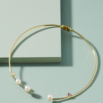 Pearl Open-Front Collar Necklace
