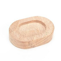 Oval blank for jewelry creation designer oak wood handmade accessory for ring