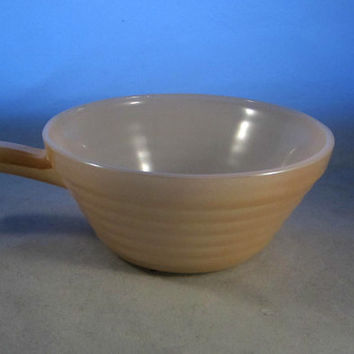 Vintage Fire King 50s to 60s Beehive Soup Bowl with Handle