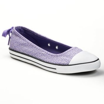 Converse All Star Dainty Ballet Slip-On Flats For Women (Purple)