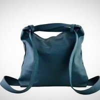 Genuine Leather Shopper Bag and Backpack