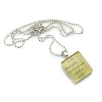 Mama Designs GlassTile Inspirational Necklace | Overstock.com Shopping - The Best Deals on Necklaces