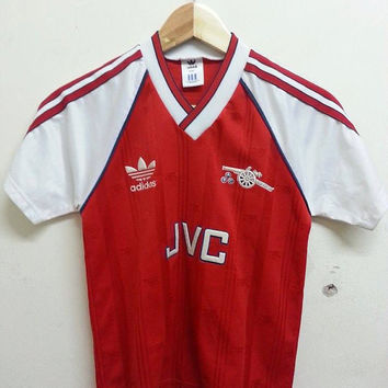 Free Shipping Rare Vintage 1980s 90s ARSENAL Adidas  Jvc Home Jersey Football Shirt(Youth or Ladies)