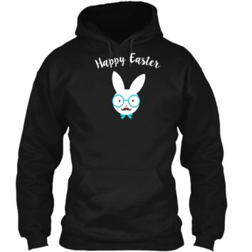 Hipster Bunny Happy Easter Pajama T-Shirt Pullover Hoodie 8 oz