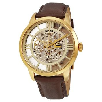 Fossil Townsman Transparent Dial Automatic Mens Watch ME3043