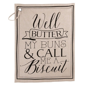 Biscuit Kitchen Towel (Butter My Buns) by Mud Pie