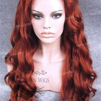 """24"""" Synthetic Lace Front with Wave Texture in Royal Red"""