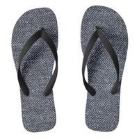 FlipFlops: Gray Tweed Fabric Flip Flops