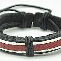 simple style Real Leather Levi's Bracelet Women's Leather Bangle Bracelet, Men's Leather Cuff Bracelet, Unisex Leather Bracelet  SZ0047