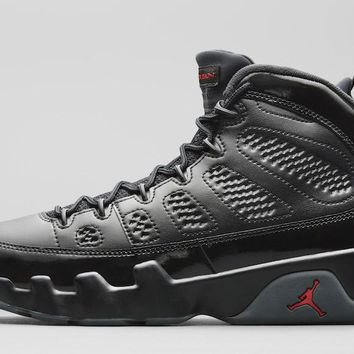 Nike Air Jordan 9 Retro IX Bred Black Red Patent Leather AJ9 PE Men 302370-014 Basketball Sneaker