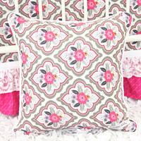 Square Pillow Cover - Vintage Floral