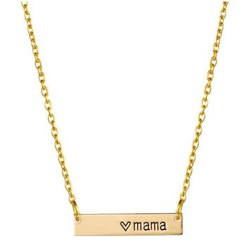 Fashion Warmth Mama Necklace Mothers Love Necklace A Mothers Love Pendant Mom Bar Handmade Necklace Gifts For Mother