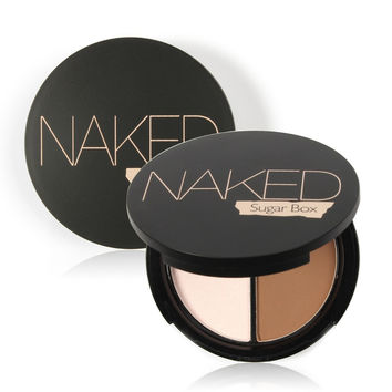 Professional Face Makeup Two-Color Bronzer & Highlighter Powder Trimming Powder Make Up Cosmetic Brand Sugar box